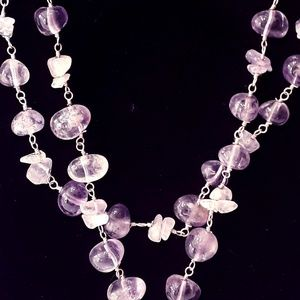 Genuine Amethyst & Sterling Necklace